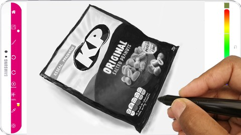 Netcurso-photo-realistic-drawing-of-kp-peanuts-drawn-with-paintology