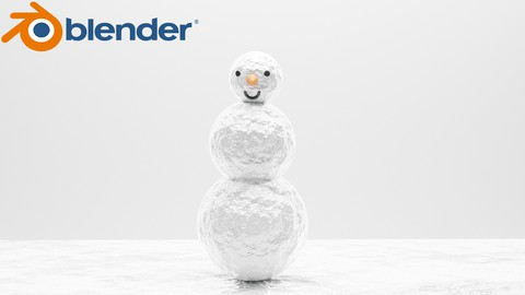 Netcurso-learn-to-make-3d-character-in-blendersnowman