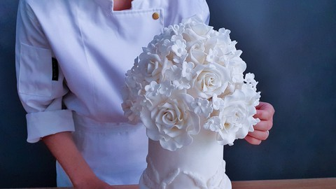 How to make Sugar flowers & Bouquet for Cake decorating