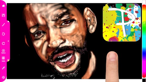 Draw Will Smith using only the shade brush with Paintology