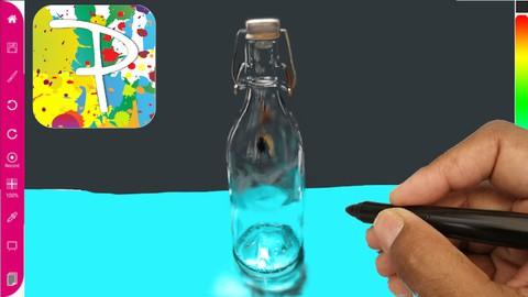 Netcurso-draw-a-photo-realistic-ikea-glass-jar-using-paintology