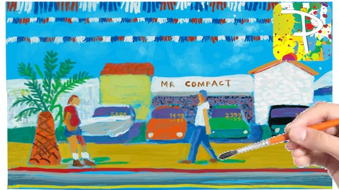 Learn to draw a David Hockney painting with Paintology