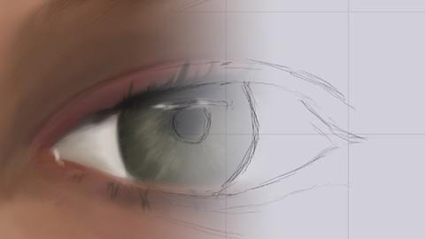 Draw digital art portraits - How to draw an eye