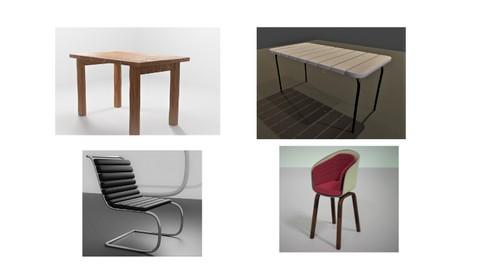blender 3d modeling For Furniture object Practice