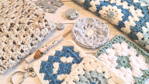 Crochet Pattern Granny Square - the easiest ever
