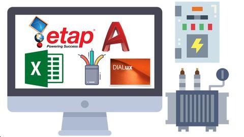 Electrical Power Distribution With,AutoCAD,Excel,DIALUX,Etap
