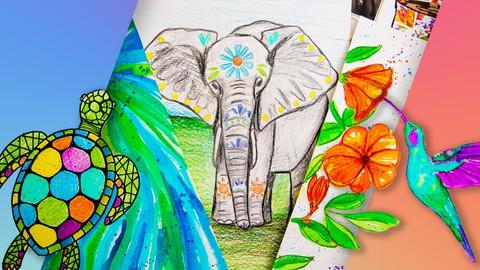 Arte para Principiantes y Niños: 8 Proyectos de Dibujo+ Coupon