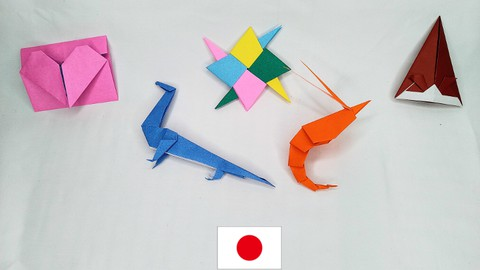 Origami, Japanese Paper crafts ‐ Challenge course 1