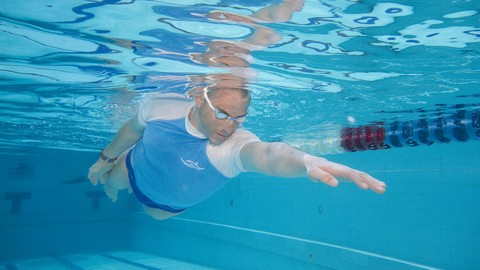 Treat lower back in swimming, swim 1k freestyle