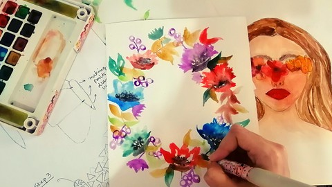 Netcurso-few-tricks-to-create-pro-watercolor-art