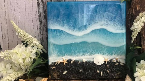 Beach Resin Art for Beginners