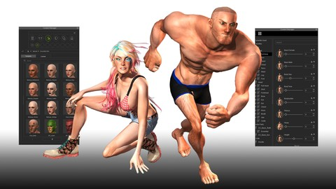 Netcurso-create-3d-game-characters-no-modeling-or-rigging-required