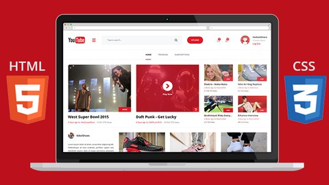 Bootstrap, HTML5 & CSS3: Create a Modern Youtube Homepage