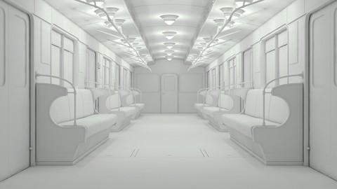 Netcurso-3ds-max-making-of-subway-train