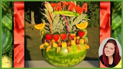 Food Decorating: Watermelon Fruit Decorating Arrangement