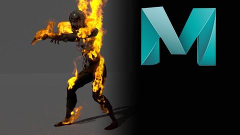 Netcurso-maya-fx_zombie-on-fire