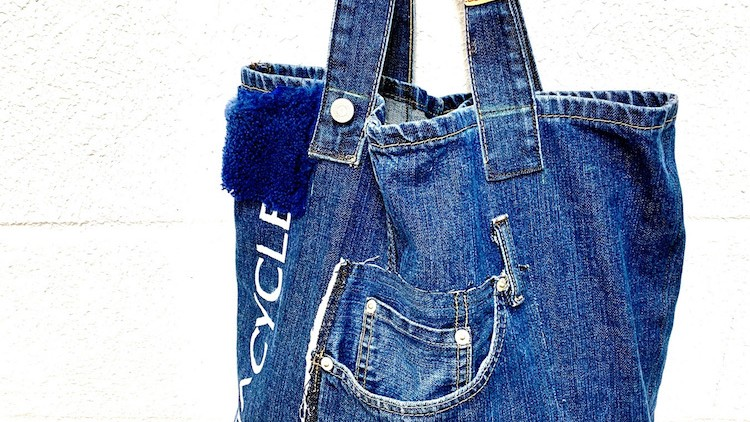 Sewing: Making a Tote bag using recycled jeans