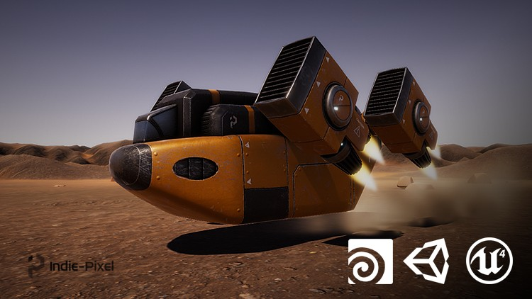 Vehicle Modeling in Houdini 16.5 - SciFi Dropship Coupon