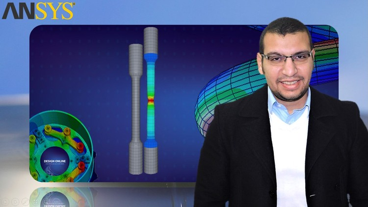 Basics of Material Modeling in Ansys - نمذجة خواص المواد Coupon