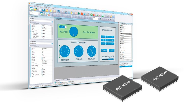 Control PIC Microcontroller using a GUI via USB or RS232 Coupon