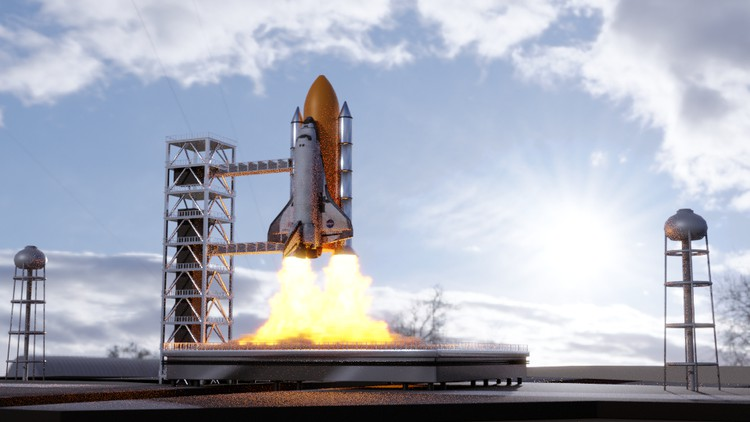 Animate a Rocket Launch: Smoke & Fire Simulation in Blender