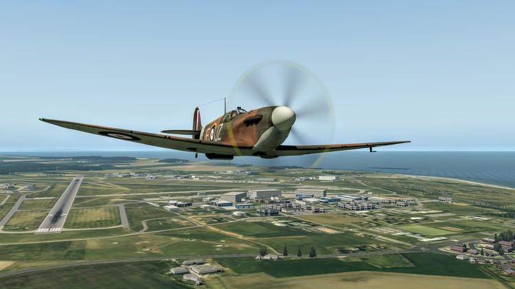 Flying the Supermarine Spitfire Mk 1.