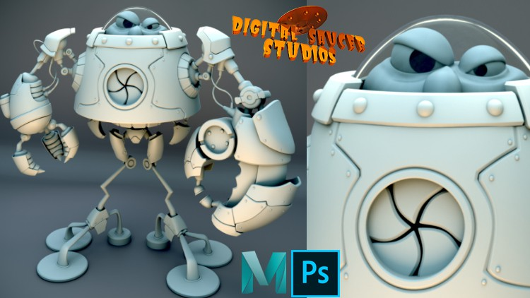 Modeling and Rendering a Robot in Maya 2020 Vol. 2 Coupon
