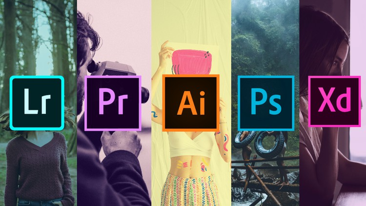 Adobe Photoshop, XD, Premiere Pro, Ai, Lightroom Masterclass Coupon
