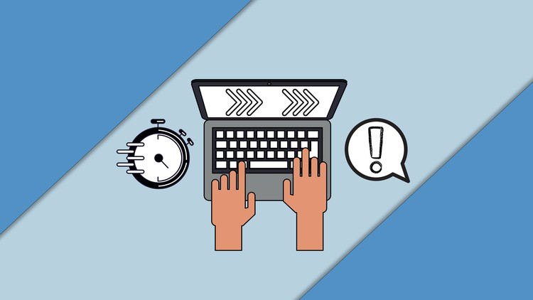 Touch Typing Course: Learn To Type 2x Faster In 30 Days!!