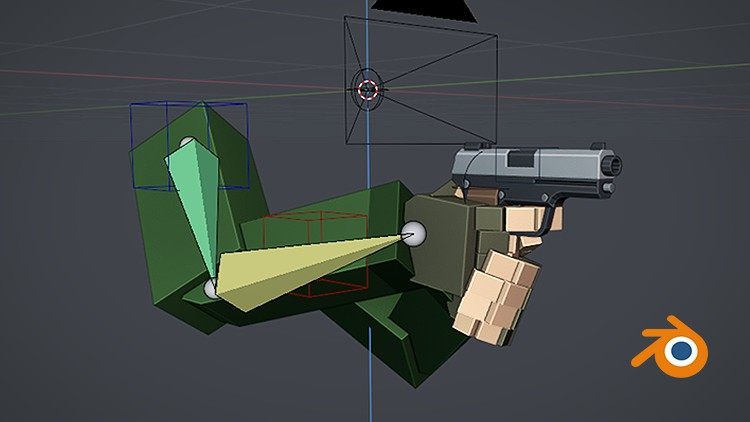 Rigging and Animating Low Poly FPS Arms in Blender