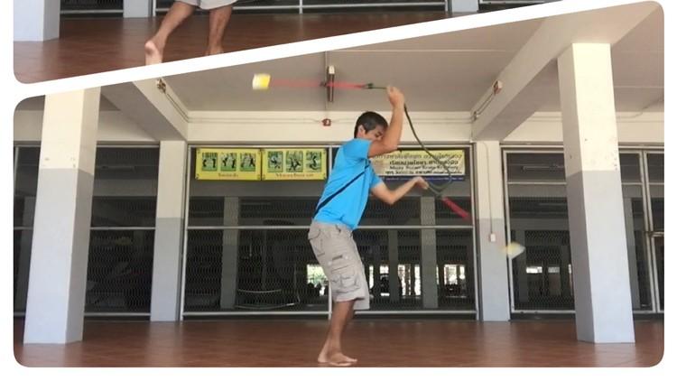 Double poi ,rope poi spinning from krabikrabong basics
