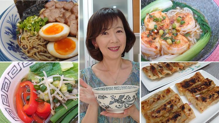 Japanese RAMEN and GYOZA Cooking