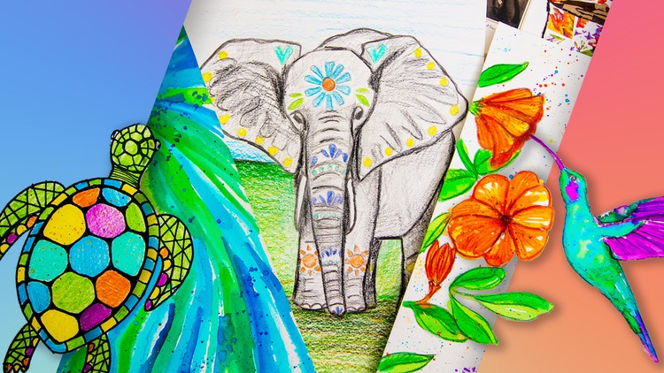 فن للمبتدئين والأطفال: ٨ مشاريع رسم Coupon