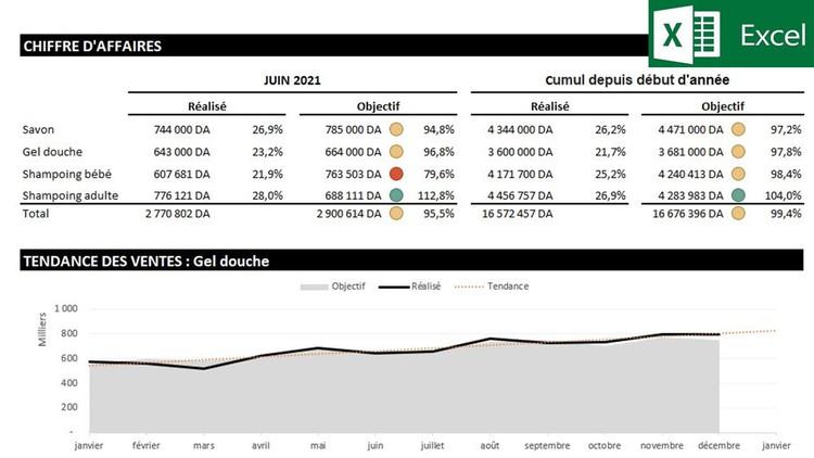 Comment réaliser un Reporting commercial avec Excel Coupon