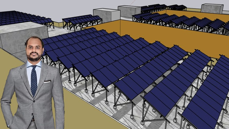 Shadow Analysis of Solar Plant in Google Sketch Up (RCC)