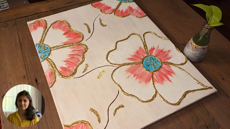 Contemporary Wall Art using Gold Leaf | Home Décor Coupon