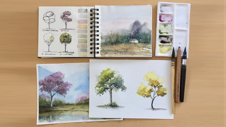 Explore and paint with watercolors III