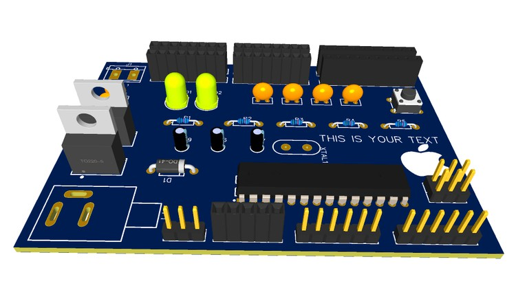 Build Your Own Arduino Board With Your Name