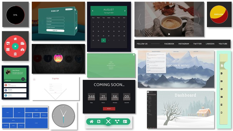 30+ Web Projects with HTML, CSS, and JavaScript