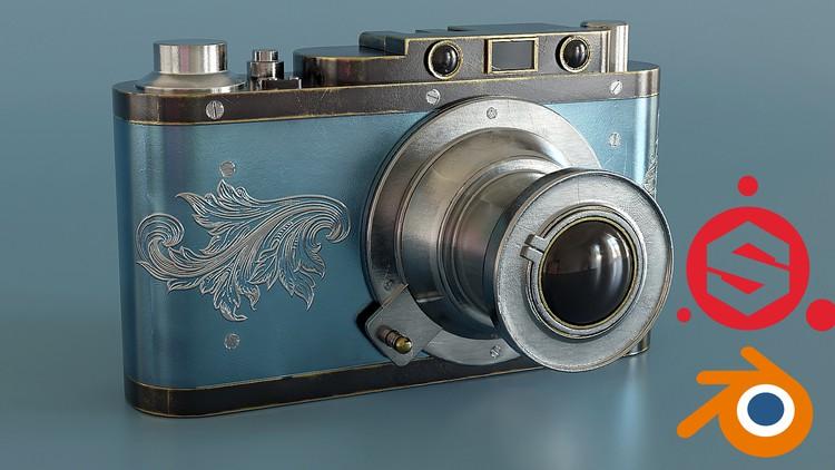 Vintage Camera Creation in Blender 3D and Substance Painter